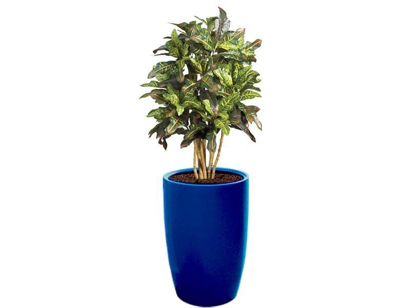 Lisbon blue round planter