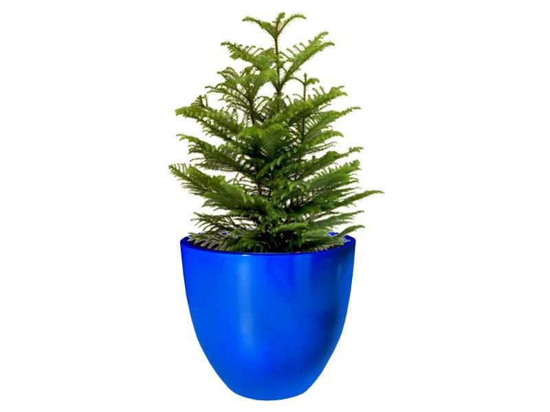 Round blue Wannsee extra large planter