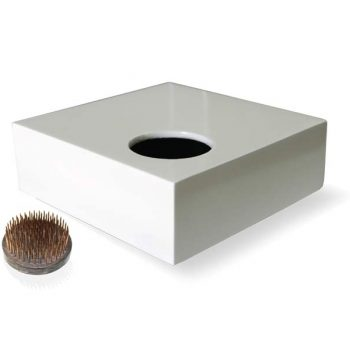 white Tallin table top planter