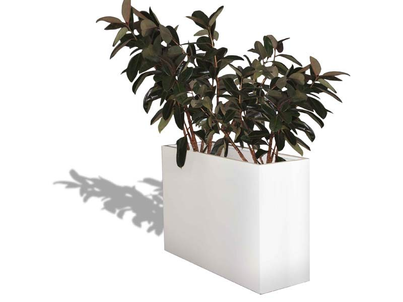 Potsdam white rectangular planter box