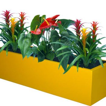 Bonn low rectangular yellow planter