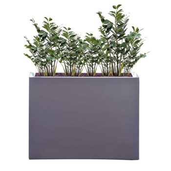 Milano rectangular gray planter
