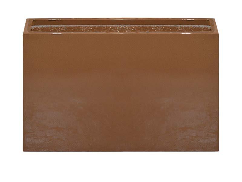 Milano rectangular brown planter