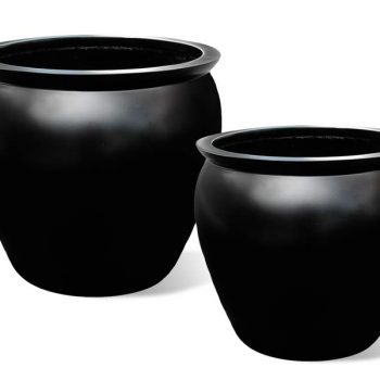 Shanghai fishbowl round planter in two sizes