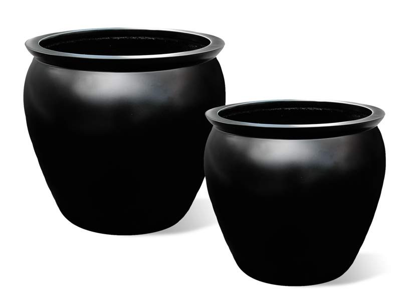 Shanghai fishbowl round planter in two sizes