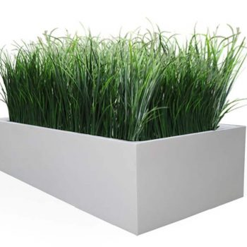 White rectangle planter