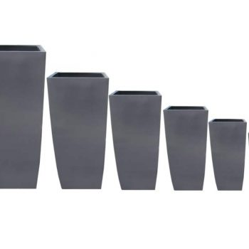 Toulan tapered square planters in six sizes