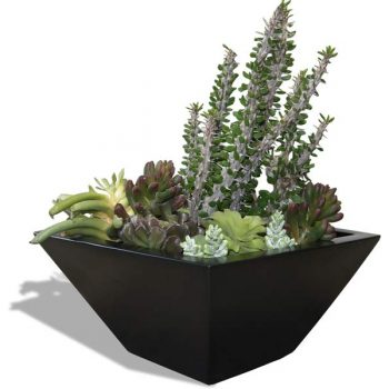 Malaga tabletop tapered square planter