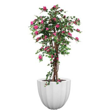 Santa Barbara ribbed round planter