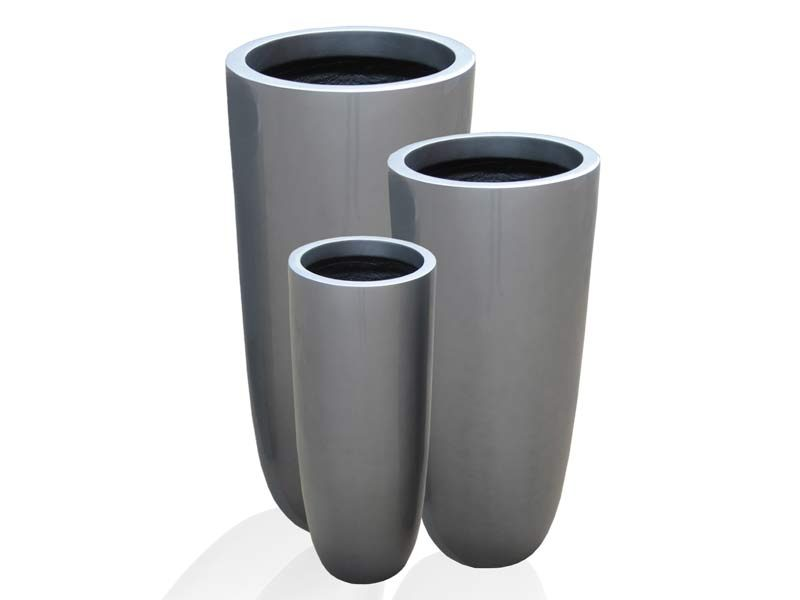 Saint tropez round bullet planters in three sizes