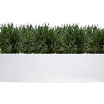 Lyon white rectangular planter