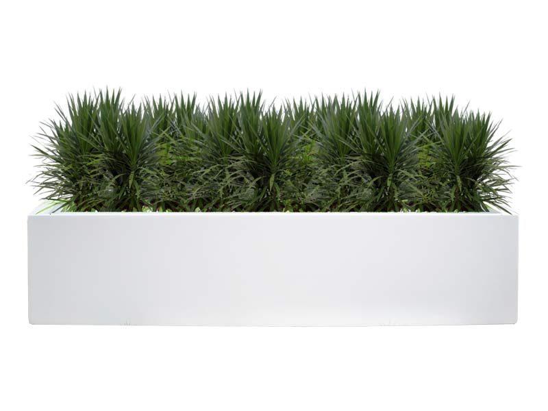 Lyon white rectangular planter