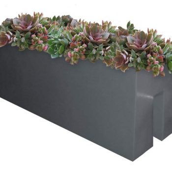 Tiergarden gray rail planter