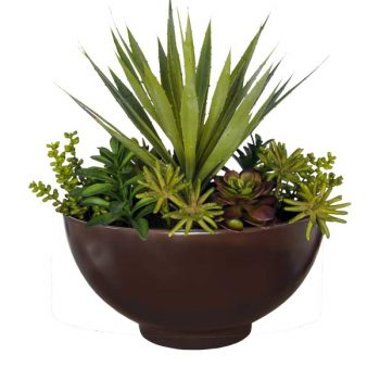 Marseille round brown planter