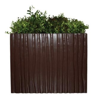 Brown planter with bamboo texture