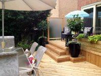Planter in an outdoor patio