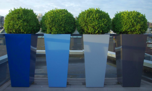Divider with planters